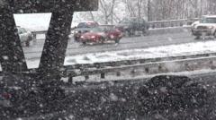 Snow Slick Roads Stock Footage