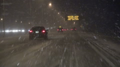 Winter Driving Stock Footage