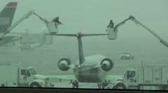 Deicing Aircraft Stock Footage