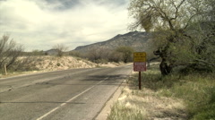 Dangerous Road Stock Footage