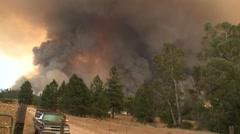 CALIFORNIA 2015 WILD FIRES SMOKE FLAMES FIREFIGHTER CREWS 6 HD 1920X1080 Stock Footage