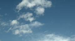 Puffy Clouds Stock Footage