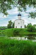 Church of the Intercession on the Nerl (1165), UNESCO heritage site Stock Photos