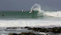 American professional surfer Kolohe Andino riding a wave Stock Footage