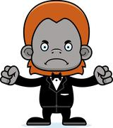Cartoon Angry Groom Orangutan Stock Illustration