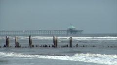 Ocean Piers Stock Footage