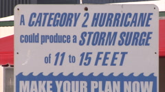 Storm Surge Marker Stock Footage