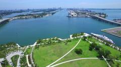 Luxury mega yachts in Miami - stock footage