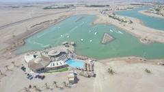 El gouna water park drone egypt Stock Footage