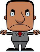 Cartoon Angry Businessperson Man Stock Illustration