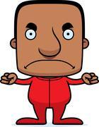 Cartoon Angry Man In Pajamas - stock illustration