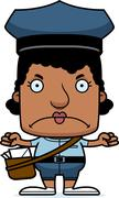 Stock Illustration of Cartoon Angry Mail Carrier Woman