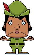 Cartoon Angry Robin Hood Woman Stock Illustration