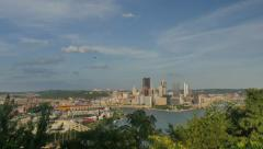 Pittsburgh Summer Timelapse Stock Footage