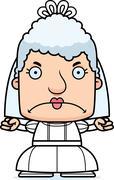 Cartoon Angry Bride Woman Stock Illustration