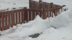 Melting Snow Drift Stock Footage
