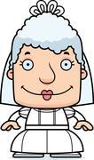 Cartoon Smiling Bride Woman Stock Illustration