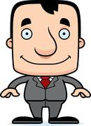 Cartoon Smiling Businessperson Man Stock Illustration