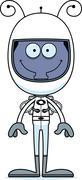 Stock Illustration of Cartoon Smiling Astronaut Fly