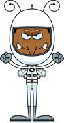 Cartoon Angry Astronaut Mosquito Stock Illustration