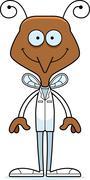Cartoon Smiling Doctor Mosquito Stock Illustration