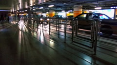 Beijing Railway Station,taxi waiting area,HD,25fps Stock Footage