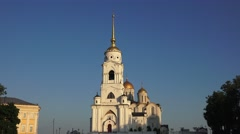 The Dormition Cathedral (in 4k), Vladimir, Russia. Stock Footage