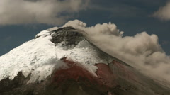 Cotopaxi Volcano, Ecuador, erupting on the 10th of September 2015 Stock Footage