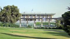 The Knesset Building, Israeli Parliament house, Jerusalem, Israel Stock Footage