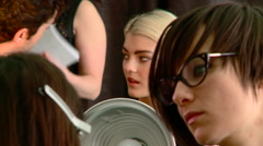 Model Preparation at New York Fashion Week Event. Stock Footage