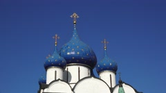 The Nativity of the Virgin Cathedral (in 4k), Suzdal, Russia. Stock Footage