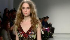 Fashion Model in New York City Walks the Runway Stock Footage