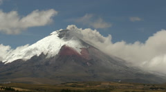 Cotopaxi Volcano, Ecuador, erupting on the 10th of September 2015 - stock footage