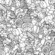 Seamless pattern. Set of confectionery - stock illustration