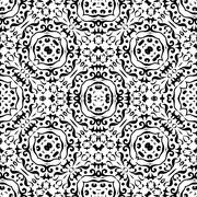Stock Illustration of Abstract seamless outline pattern