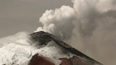 Cotopaxi Volcano, Ecuador, erupting on the 11th of September 2015 Stock Footage