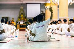 Buddhism study - stock photo