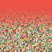 Stock Illustration of Flat colored ornament with retro halftone dots