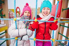 Winter recreation - stock photo