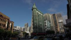 Hyper Lapse of Columbus Tower, San Francisco Stock Footage