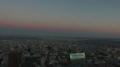 Downtown los angeles jw marriot drone aerial sunset Stock Footage