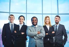 Successful employees - stock photo