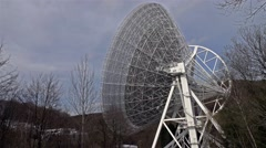 Radiotelescope time lapse Stock Footage