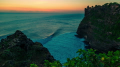 4K Timelapse. Sunset in the Indian Ocean Stock Footage