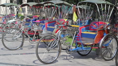 Vintage tricycle bicycle in Chiang mai Thailand. Stock Footage