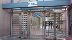 Mexico Port Of Entry Stock Footage
