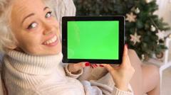 Green screen Chromakey smile Stock Footage