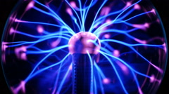 Tesla Coil - Electrical Plasma Arcs and Rays (Loop) Stock Footage