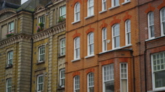 4K Exterior view of period town houses in a London Suburb - stock footage