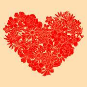 Heart shape - stock illustration